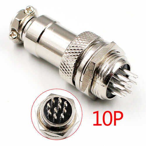 GX16-10-Pin Silver Aviation Plug Male Female - 10pairs