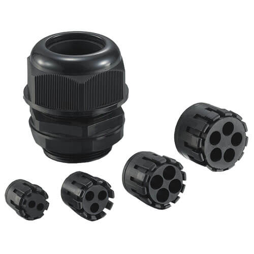 3 Hole Nylon Cable Gland - PG7 - 20pcs