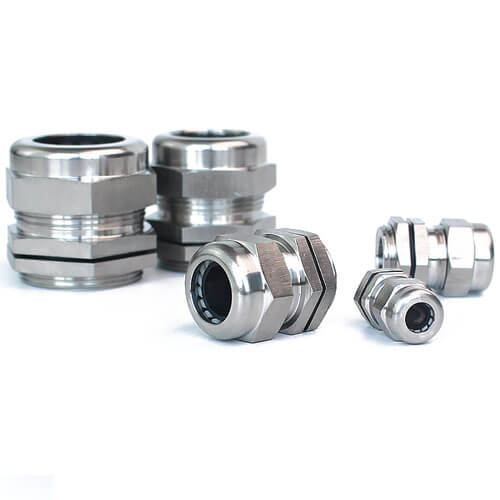 PG11 Stainless Steel Cable Gland - 3pcs